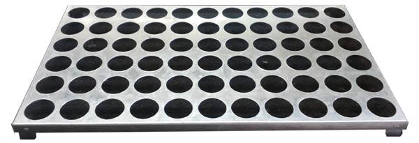 Aluminium, 1.5mm thick, 66 holes