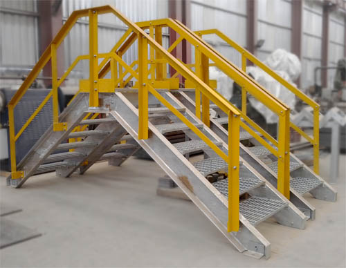 Elevated Walkway with handrails