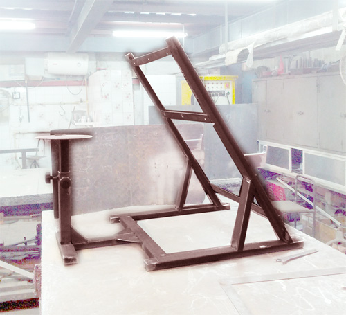 Steel frame for gym exercise equipment