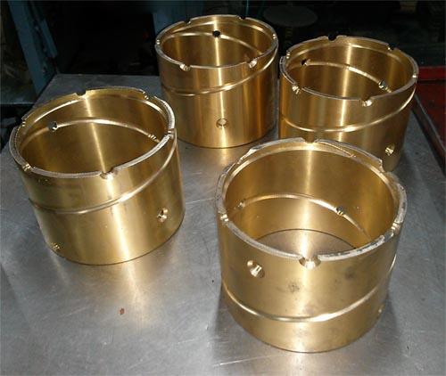 Bronze bush I.D. 13cm, 7.5mm thick, various lengths